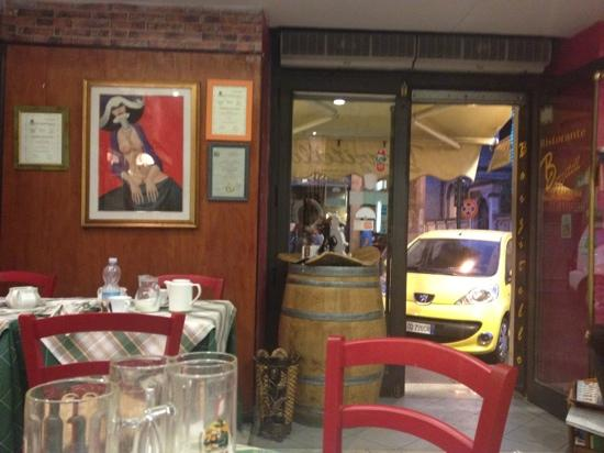 Ristorante Berzitello: view from our seat.