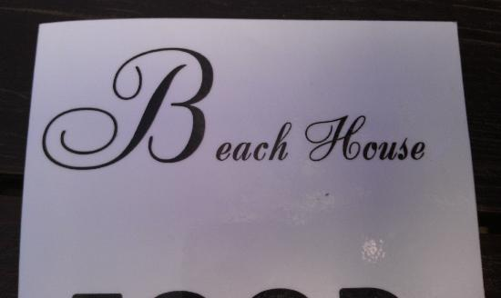 The Beach House: Menu