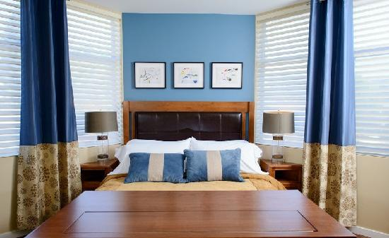 Two Thirty-Five: Luxury Suites: The master bedroom in the Fitch Mountain Suite
