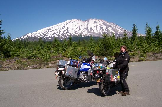 Gifford Pinchot National Forest: A view of Mt. St. Helens on the road leading to Lava Canyon in GPNF