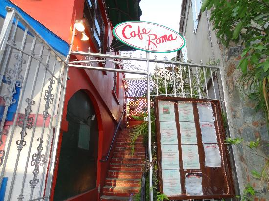 CAFE ROMA....waiting for you up the stairs!