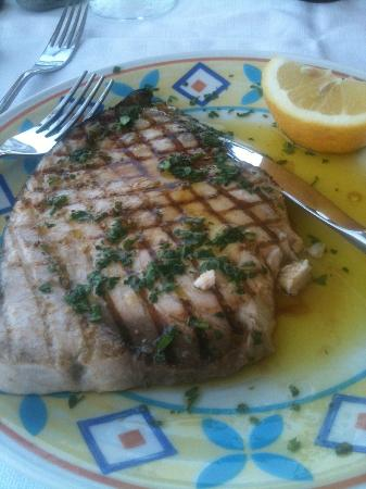 Atahotel Naxos Beach: Fresh local swordfish