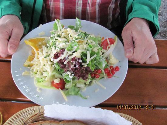 Hotel Montfort-Schlössle: Salat mit Bergkäse - auch sehr zu empfehlen