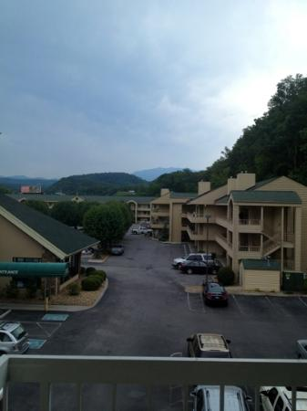 Comfort Inn & Suites at Dollywood Lane: outside our balcony