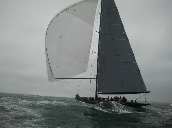 Seadogz Rib Charter Limited: J-Class - Lionheart flying downwind