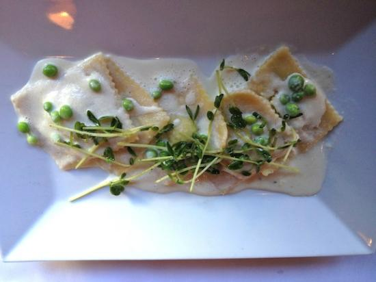 Green Monkey : Sweet Pea Raviolis