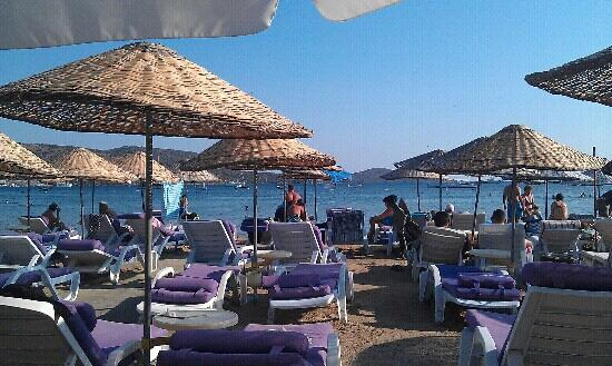 Beach at Salmakis, very comfortable.