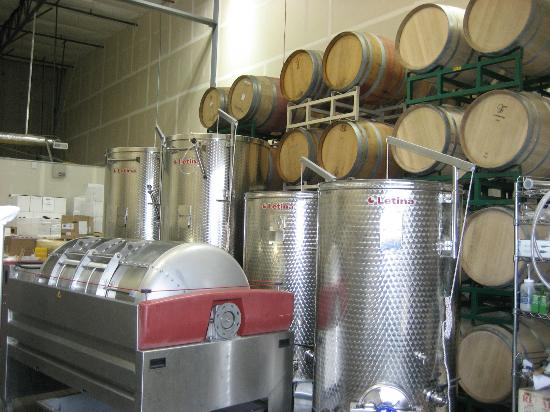 Stottle Winery Production area
