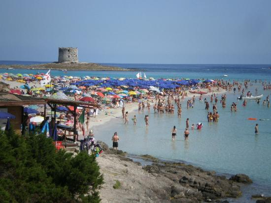 La Pelosa Beach: Crowd