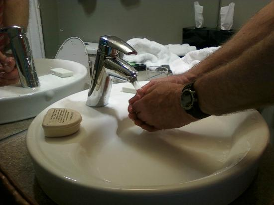 Hotel Alma: the infamous shallow sink