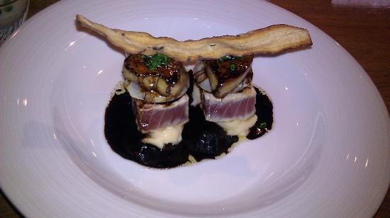 Rakuza Tokyo: fois gras scallop tuna