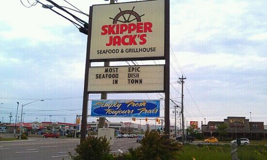 Skipper Jack's: they do have the most epic seafood and steaks around and let's not forget burgers