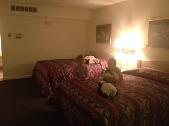 Rodeway Inn: girls are happy with the accommodations, very clean