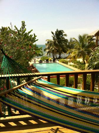 El Pescador Resort: Saltwater pool and the sea