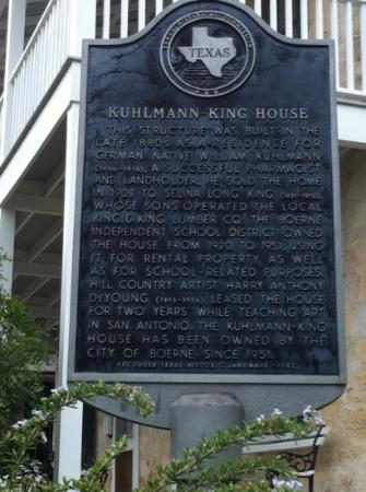 Kuhlmann-King Historical House: Historic Site Marker