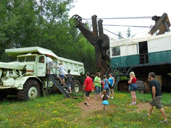 Calumet, MN: old mining equipment