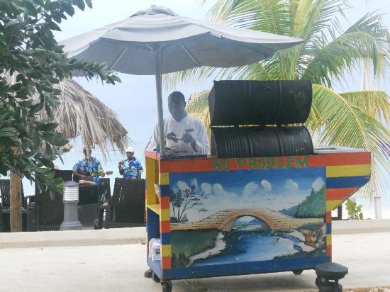 Secrets Wild Orchid Montego Bay: Jerk Chicken Cart
