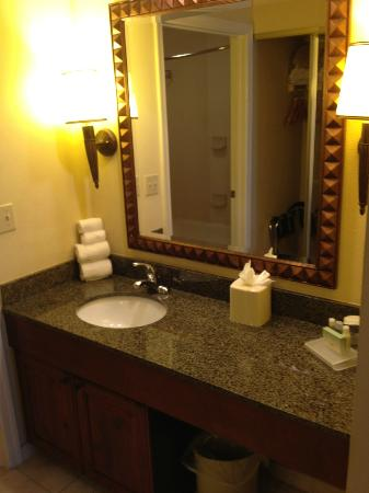Homewood Suites by Hilton Jackson Ridgeland: vanity outside bathroom