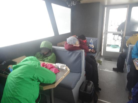 Bob's Trophy Charters - Day Trips: sleeping on the way back