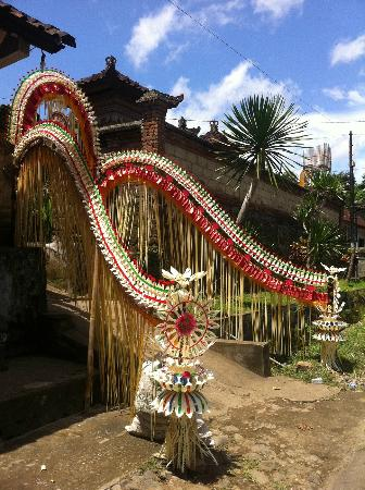 Traditional wedding decoration with coconut leaves for Bali wedding decoration ideas