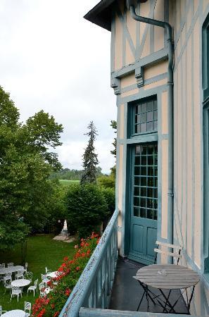 Moulin de Connelles : vue du balcon