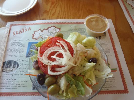 Vincent's Italian Restaurant: Salad included