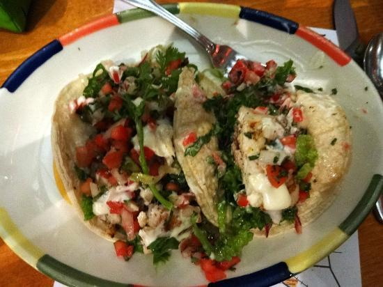 Big Sky Cafe: Two grilled fresh fish tacos