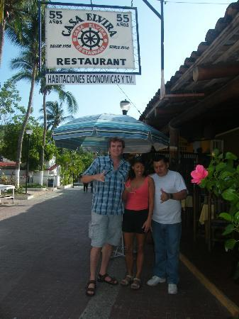 Casa Elvira with our friend Mr. Nahum. Excellent food, even nicer people!