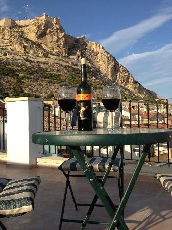 Apartamentos de Luz: The view from the roof terrace, Salud!