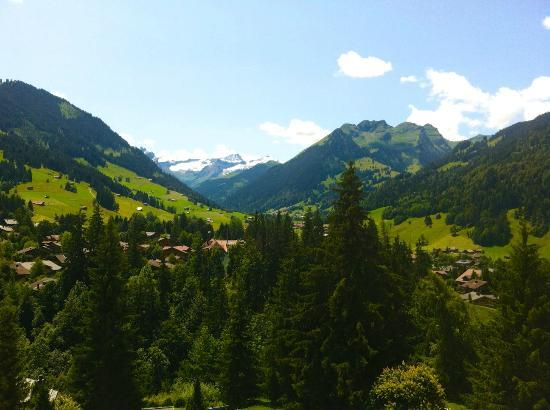 Gstaad Palace Hotel: southern view from superior room