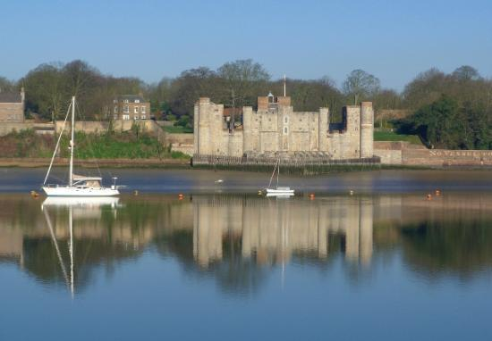 Rochester, UK: Upnor Castle from the River Medway