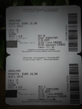 Ondaland: I biglietti d'ingresso nel dettaglio.
