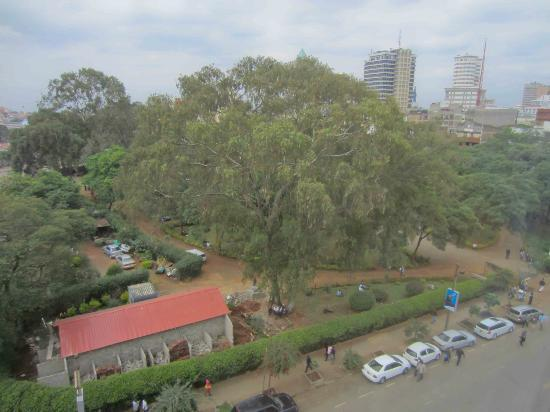 Kenya Comfort Hotel: My room overlooked a park opposite
