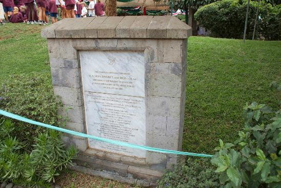 American Embassy Memorial Garden: Plaque in the garden