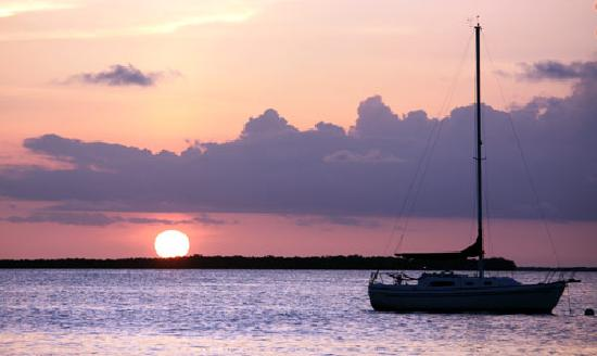 Kings Kamp: Sunset and Sailboat
