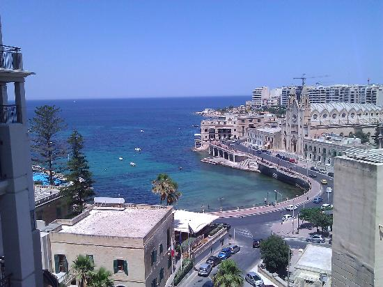 Le Meridien St. Julians: View from Hotel Room
