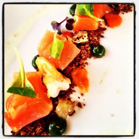 Restaurant Bataviahaven: heerlijk voorgerecht: Schotse wilde zalm