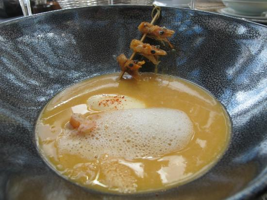 Robuchon au Dome: lobster bisque