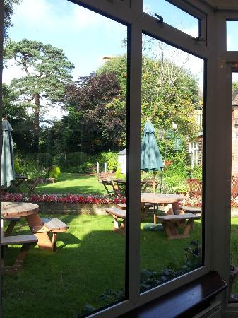 The Yenton: The lovely garden can be viewed from the bar and restaurant.