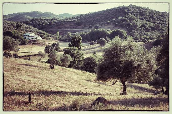 Los Pozos de la Nieve: Los Pozos seen from the opposite hill
