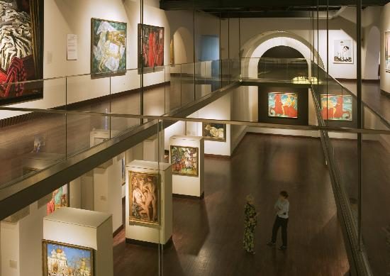 The Museum of Russian Art: A view of the main gallery from the mezzanine