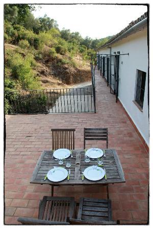 Los Pozos de la Nieve: terrace of apartment 'Sol' and entrance of rooms