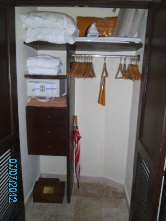 Royal Club at Occidental Grand Cozumel: room 2118 room with safe & lots of hangers