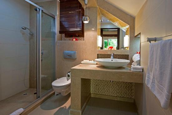 Hotel Bellapais Gardens : Twin Level Cottage Bathroom