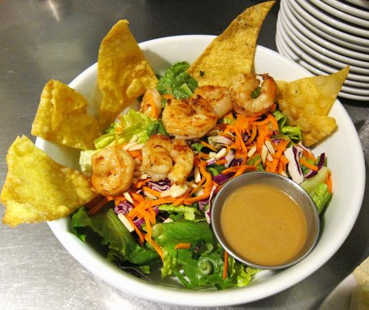 The Root Trackside: asian salad w shrimp