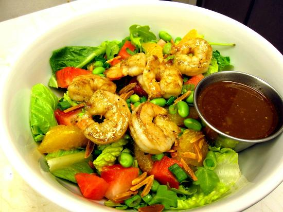 The Root Trackside: spring asian salad w shrimp