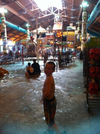 Great Wolf Lodge: Kevin so very happy!! Sandusky , OH