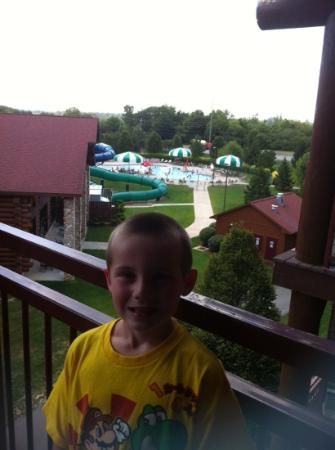 Great Wolf Lodge: View from our room , great room , great view , great fun!!