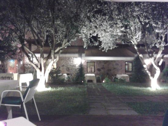 Vigna Ilaria Ristorante Locanda : il giardino di sera