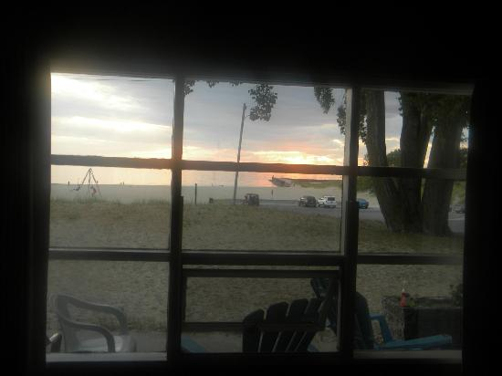 Lake Shore Motel: View of beach from inside of room